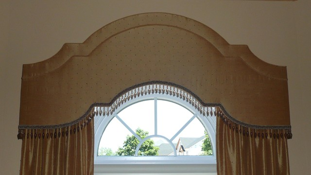 Arched Cornices W Drapery And Shadings Traditional