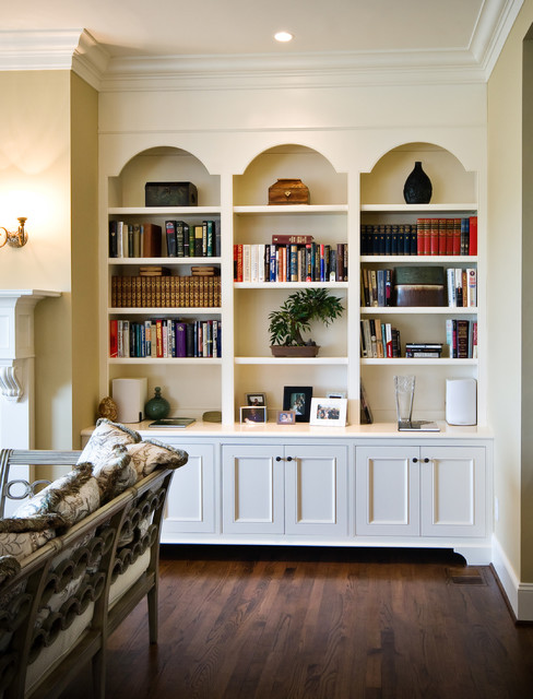 Arched Frame Bookcases Traditional Living Room Charleston By Hostetle