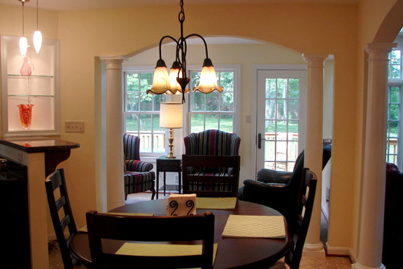 Arched Openings Between Casual Dining And Sitting Areas Part 74
