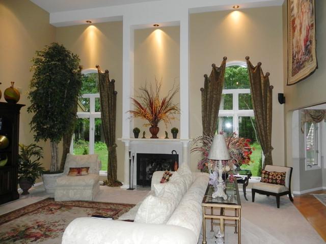 Arched windows mediterranean-living-room