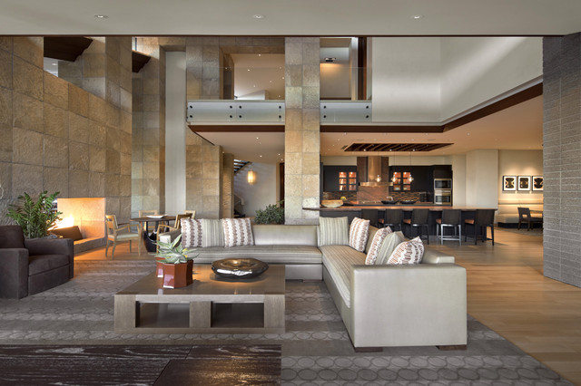 Architect: Jon C Bernhard Southwestern Living Room