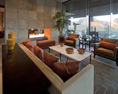 Architect: Jon C Bernhard contemporary living room
