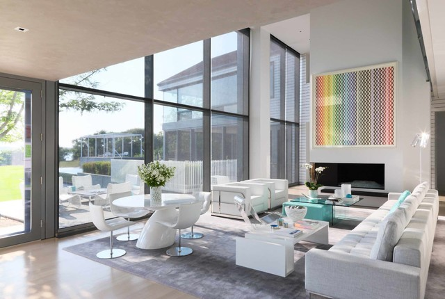 architectural digest east hampton residence contemporary living room - Living Room East Hampton