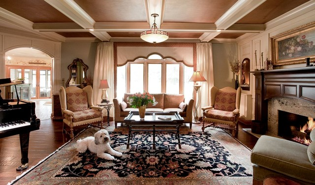 Architecture and Remodeling traditional-living-room