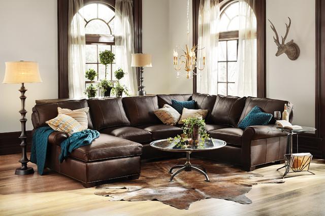 Leather Sectional Arhaus Furniture Teal Pillow Arhaus Table Arhaus ...
