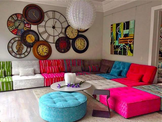 arianne love contemporary fabric modular sofa - modern - wohnbereich