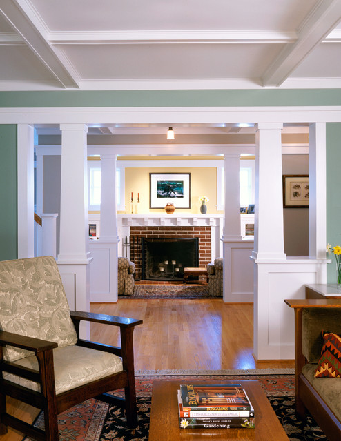 arts and crafts living room photo in dc metro - Craftsman Living Room