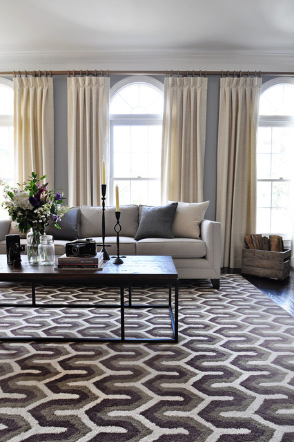 Arlington Living Room Drapes Transitional Living Room Dc Metro By Lap