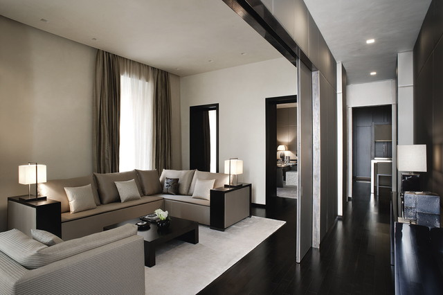 Armani/Casa Furniture Contemporary Living Room
