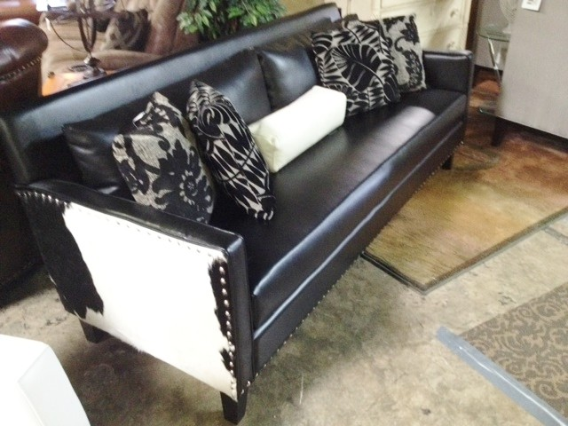 Nice Armen Living Dallas Leather/Cowhide Sofa $795 Transitional Living Room