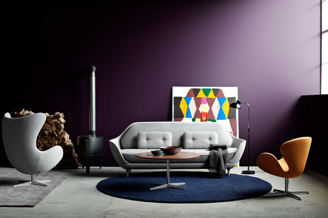 Arne Jacobsen Design modern-living-room