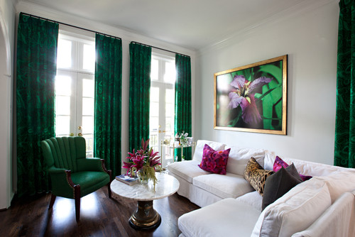 contemporary living room Emerald Green   Pantone Colour of the Year 2013