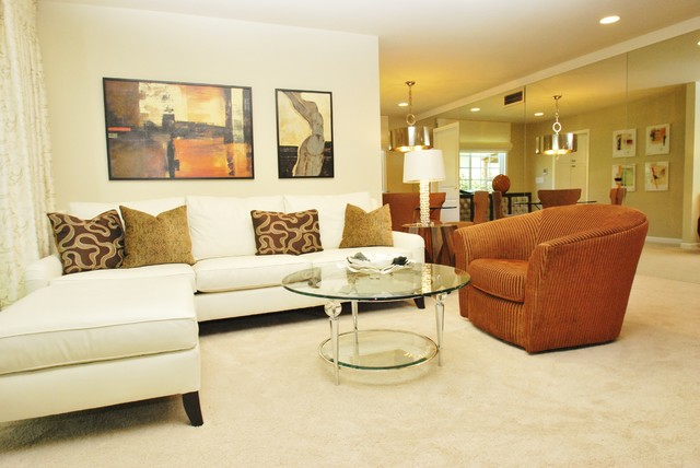 Art Adds Style in Updated Living Room contemporary-living-room