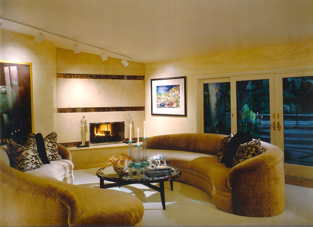 Beau Art Deco Living Room Contemporary Living Room