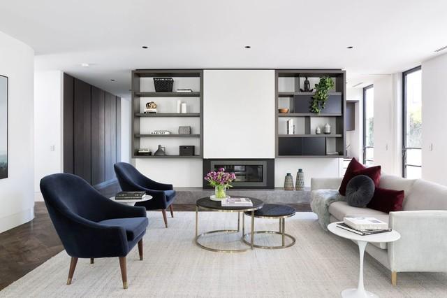 Art Deco Penthouse contemporary-living-room