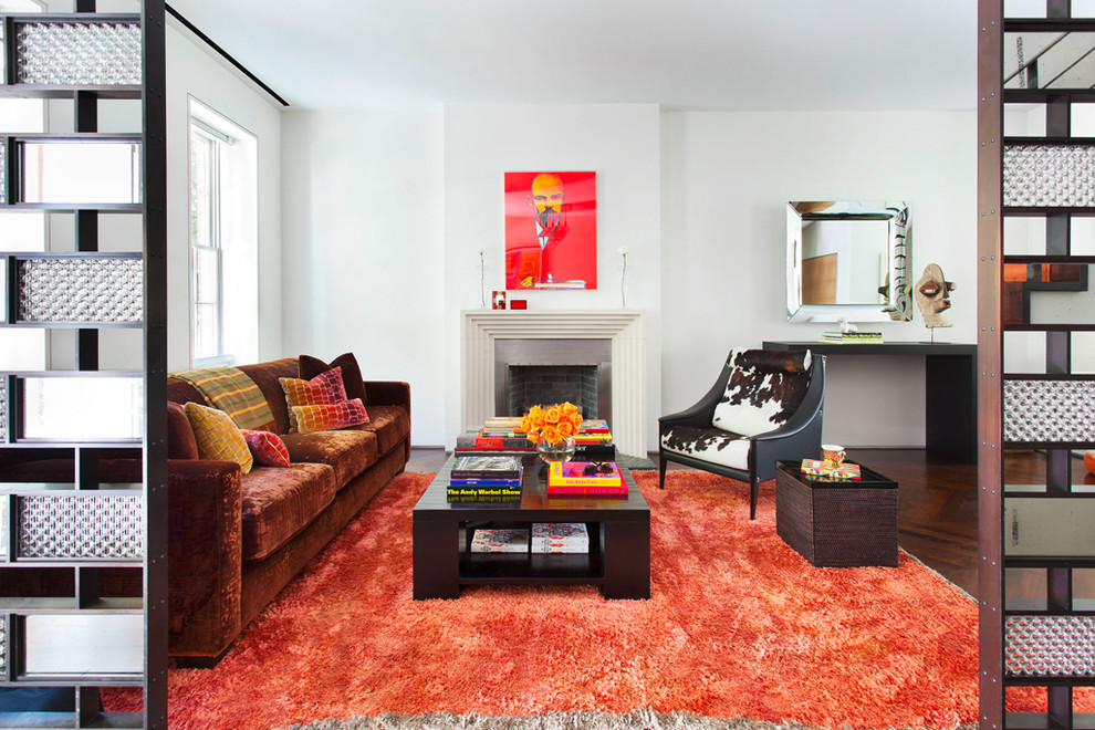 Inspiration for a contemporary living room remodel in Chicago