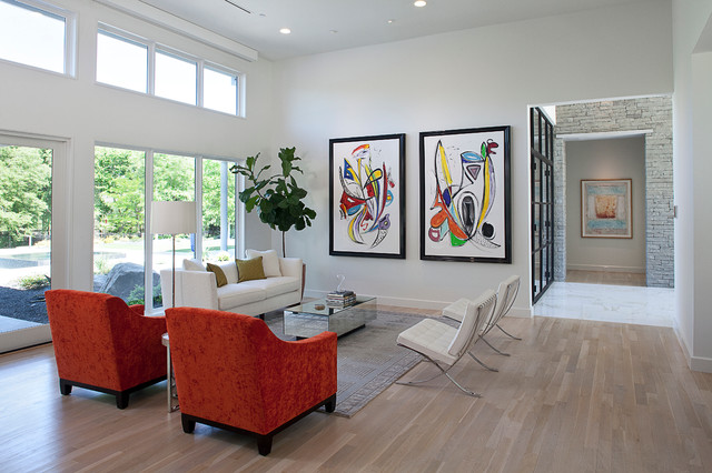 art gallery inspired residence - modern - living room - dallas -
