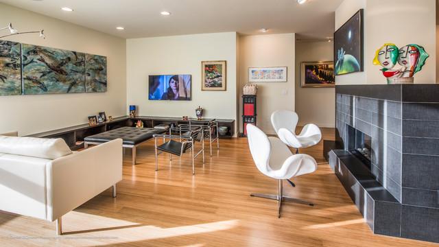 Art Lover's New Home  /  Denver, CO contemporary-living-room