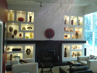 Art Niche Cabinet Contemporary Living Room San Luis