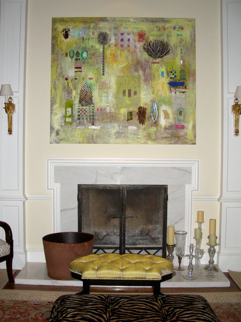 Metal Wall Decor Above Fireplace : Art over fireplace