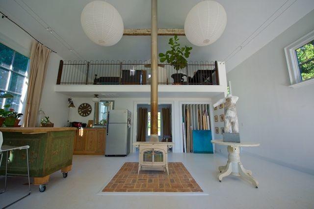 Art Studio Eclectic Living Room
