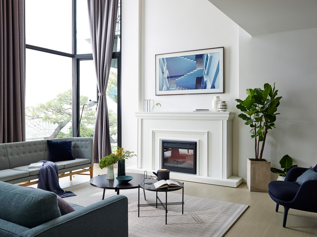 traditional living room with tv. Art Turns Into TV - Samsung Frame Traditional-living-room Traditional Living Room With Tv D