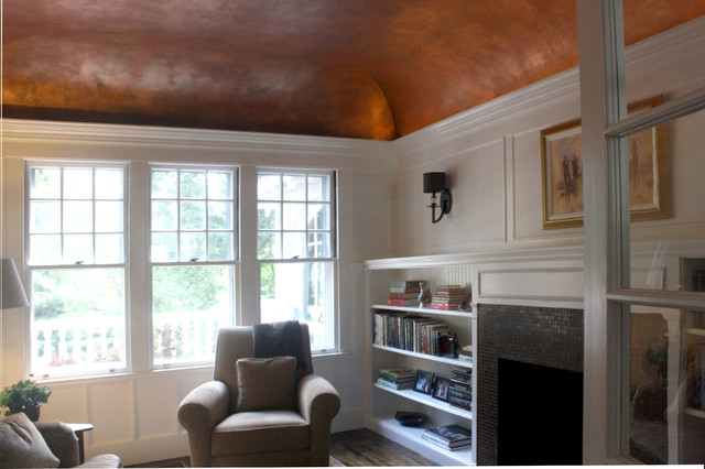 Superior ... Oxidized Copper Metallic Paint Finish Traditional Living Room ... Part 16