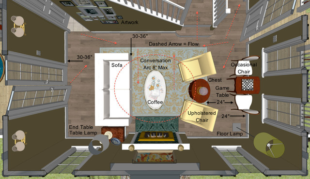 Article key measurements to help you design the perfect - Perfect living room layout ...