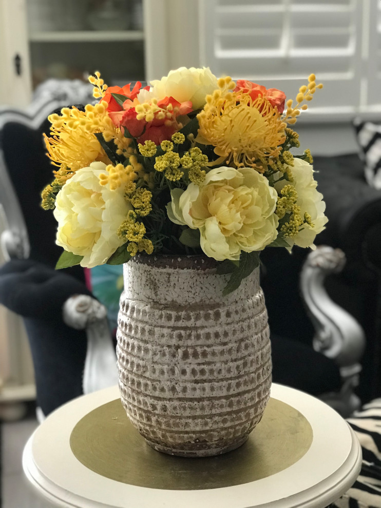 Artificial Flower Arrangement Ray Of Sunshine Living Room Los Angeles By Inspire By Mec