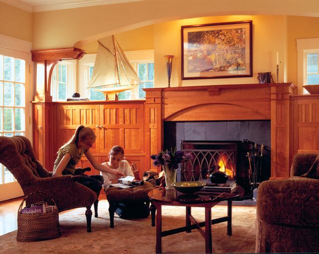 Arts & Crafts Details craftsman-living-room
