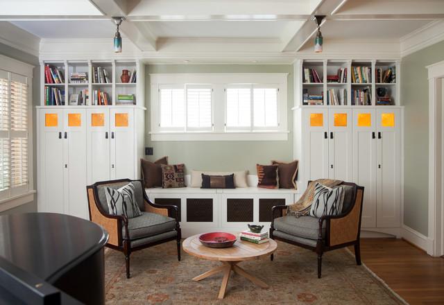 arts crafts remodel eclectic living room atlanta