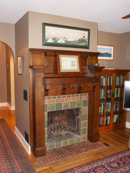 Craftsman gas fireplace home design photos decor ideas for Craftsman gas fireplace