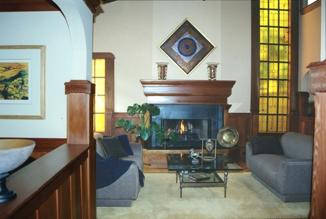 arts and crafts style home eclectic space craftsman