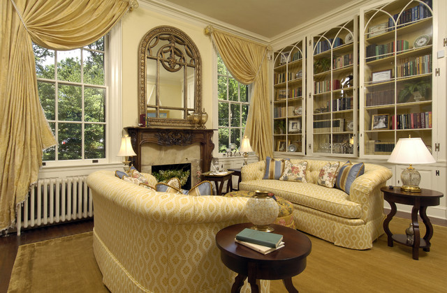 Arts Council Showhouse Library 5 traditional living room