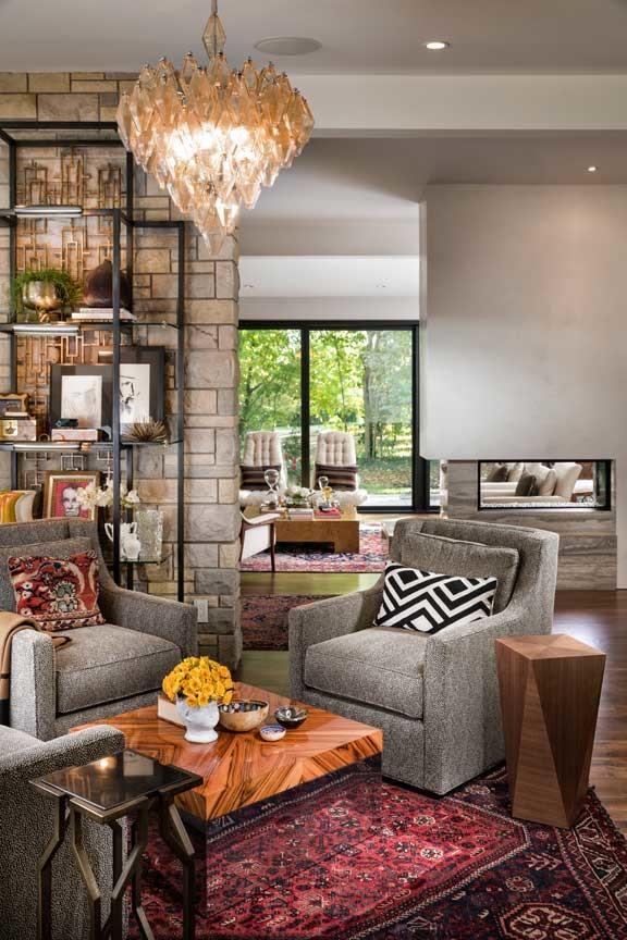 Artsy Living Room: Artsy Vibe In Mid-Century Modern Ranch
