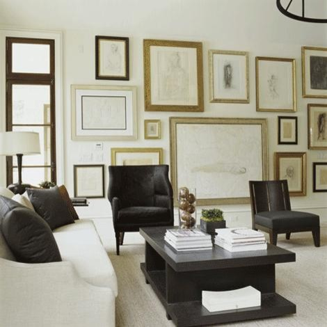 Artwork Wall eclectic-living-room