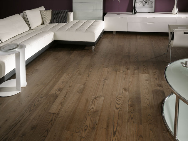 ash mocca - brushed and oiled ash flooring - contemporary - living