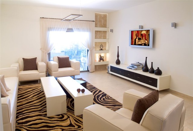 contemporary living room by Asher Elbaz