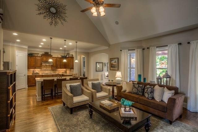 Ashton Woods Atlanta Interiors Traditional Living Room