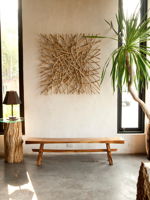 asian art imports sustainable furniture contemporary living room