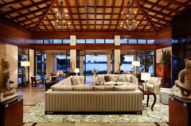 asian contemporary - asian - living room - miami -thomas m