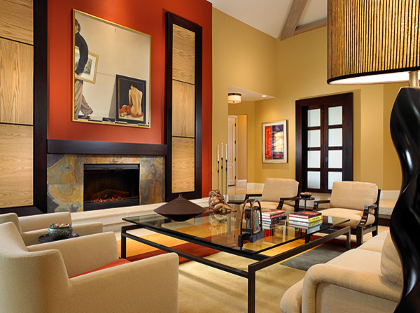 Asian influence with a warm comfortable feel asian for Asian living room designs