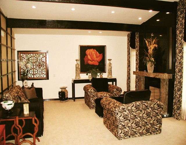 asian inspired living room. Black Bedroom Furniture Sets. Home Design Ideas