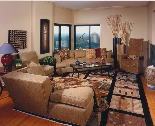 Asian Inspired Living Room Asian Living Room Minneapolis By Eminent Interior Design