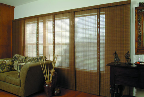 Blinds Com Brand Woven Wood Sliding Panels Asian