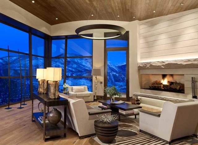 Aspen Oaks Rustic Living Room Denver By Andrea Lawrence Wood Interior Design