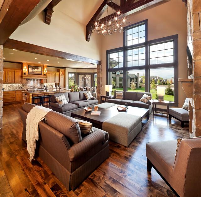 Pine Brook Boulder Mountain Residence Living Room: Aspen Ridge I Floor Plan