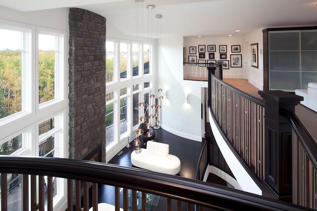 Aspen Ridge Renovation contemporary-living-room