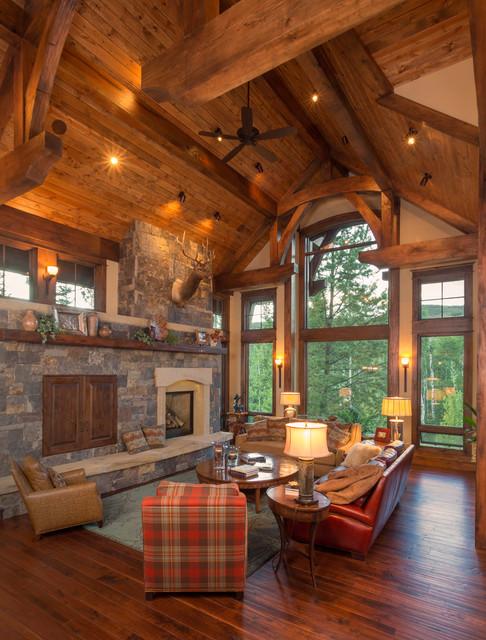Aspen Wood Home Rustic Living Room Denver By