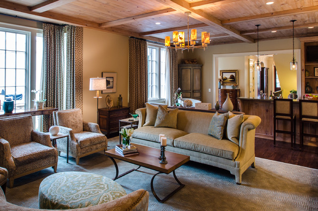 Asymmetrical French Eclectic Traditional Living Room Other Metro By Farris Concepts In